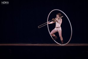 Photo Aude roue cyr trombone